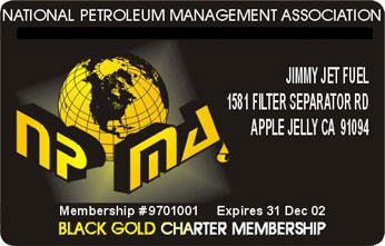 Black Gold Membership Card